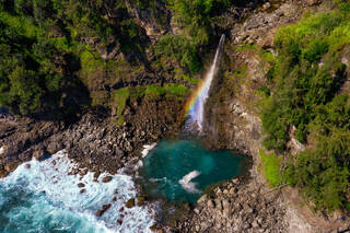 How I stumbled across this incredible Hawaii waterfall casting rainbows with the help of my drone.