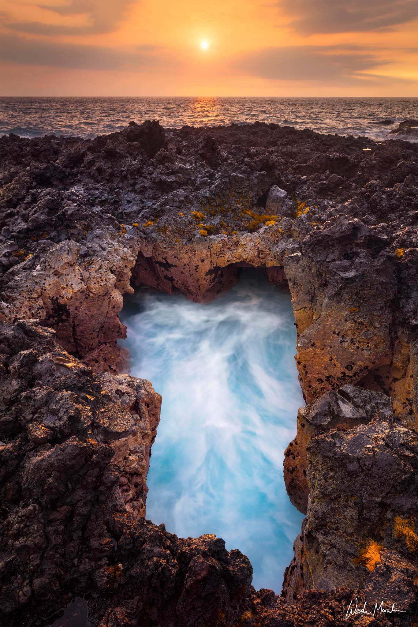 Located in South Kona of the Big Island, this unusually shaped blowhole caught my attention while scouting the coastline. The...