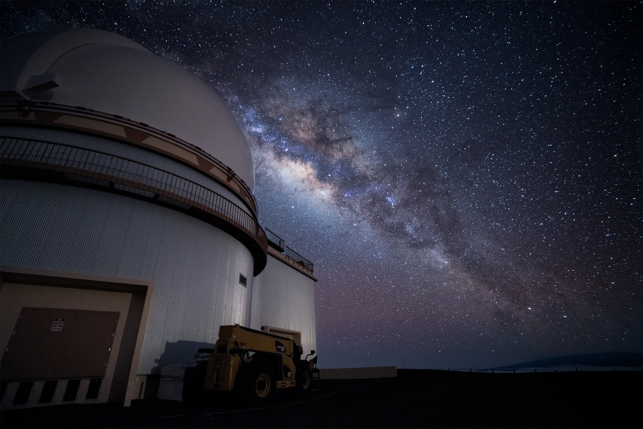 From the summit of Mauna Kea on the Big Island Of Hawaii I captured this view of the Milky Way  and the Hawaii Canada France...