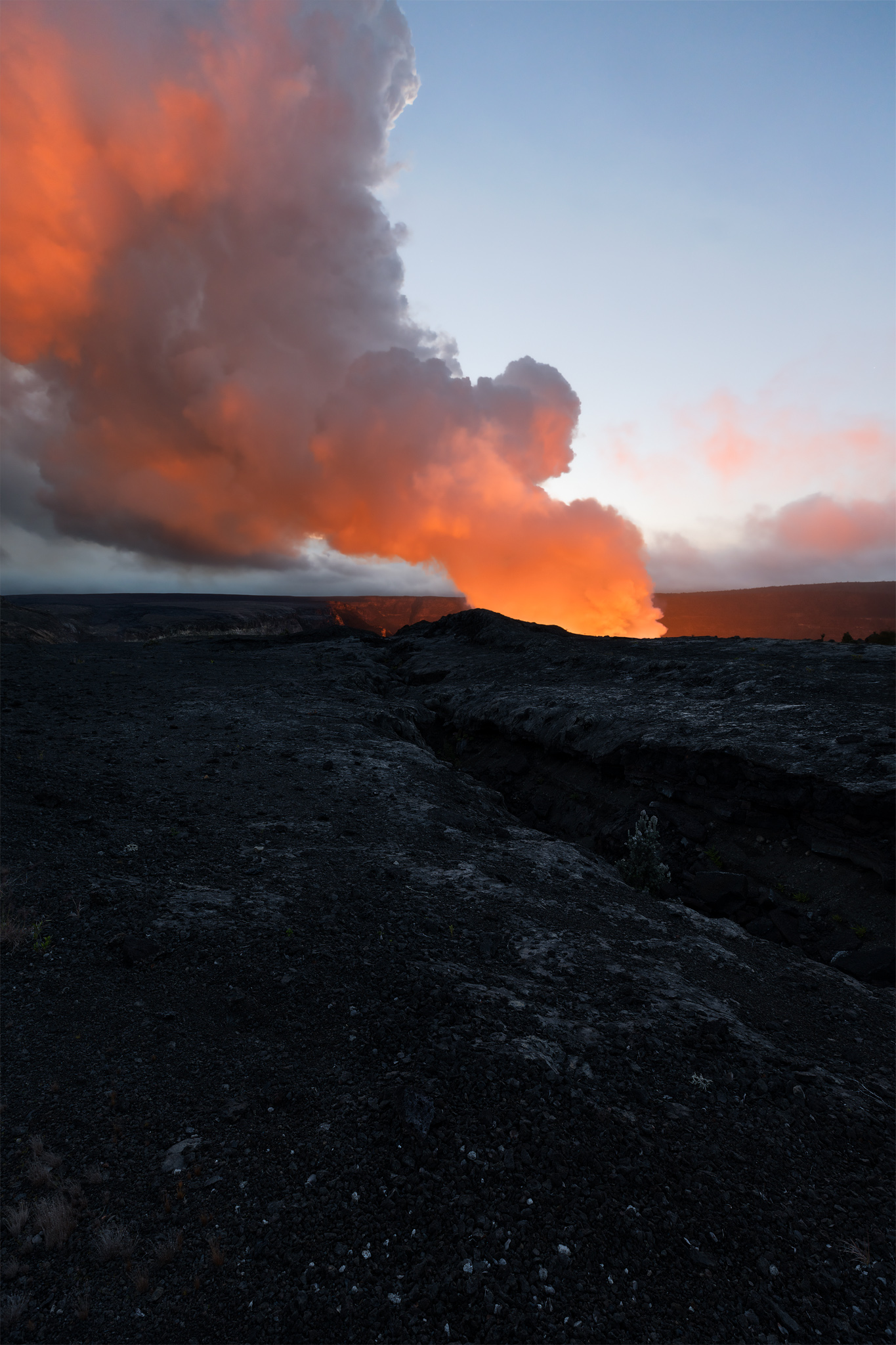 Halema'uma'u fiery glow was the main attraction at Volcano National Park and was greatly missed since its deflation in 2018....
