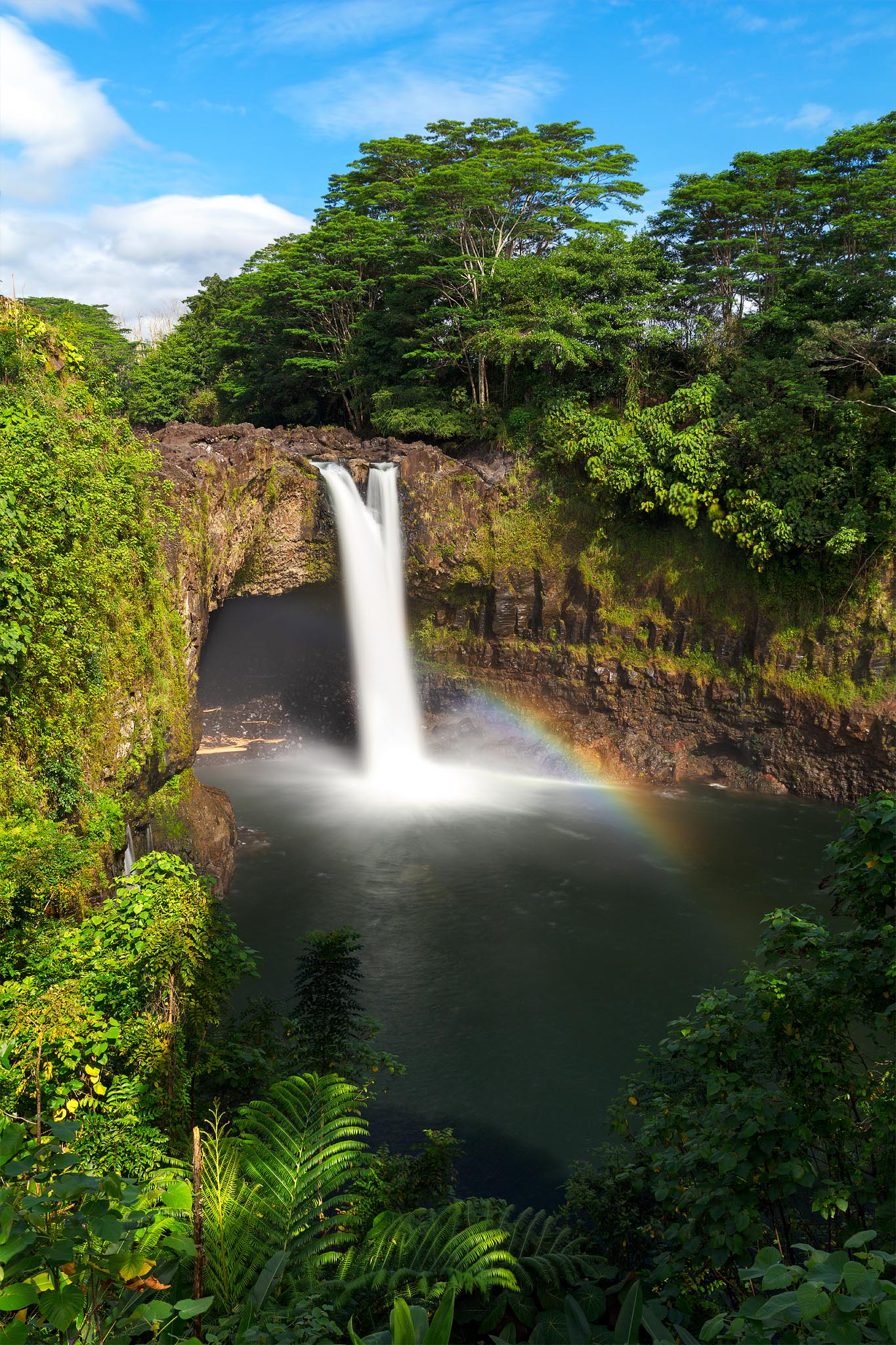 Here is a classic view of Rainbow Falls in the morning. Many tourists ask me why they never see a rainbow here. Show up early...